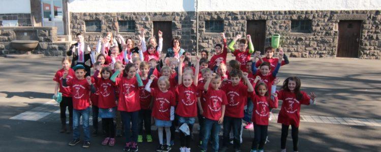 Siegerehrung des 6. Crosslaufs der Schule am Diebsturm